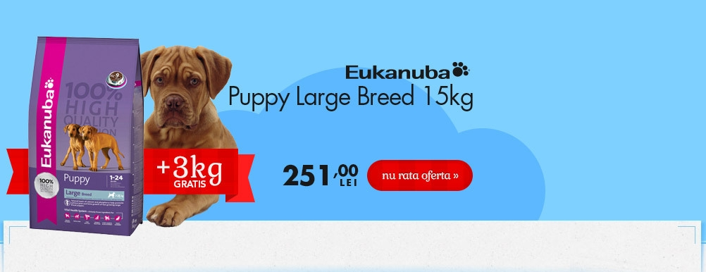 Eukanuba Puppy Large Breed + 3 kg Gratuit