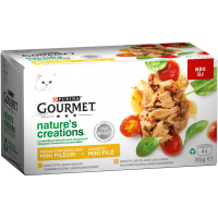 Gourmet Nature's Creations File Multipack Pui si Curcan, 4x85 g