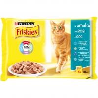 Plic Friskies Multipack Peste, 4 x 100 g