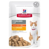 Hill's SP Feline Young Adult Sterilised cu Pui, 85 g