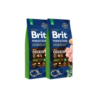 Pachet 2 x Brit Premium by Nature Adult XL, 15 kg