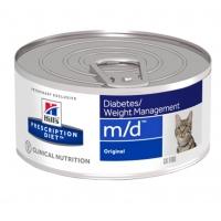 Hill's PD Feline m/d - Diabet sau Obezitate, 156 g