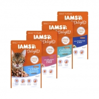 Iams Delights Cat Sea Collection Multipack in Jelly, 12x85 g