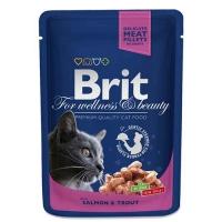 Brit Premium Cat Cu Somon si Pastrav, Plic, 100 g