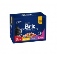Brit Premium Cat Multipack Family Variety, 12 x 100 g