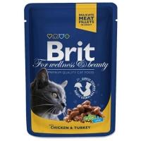 Brit Premium Cat cu Pui si Curcan, Plic, 100 g
