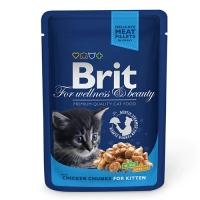 Brit Premium Cat Kitten cu Pui, Plic 100 g