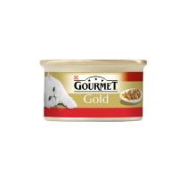 Gourmet Gold Cuburi Vita si Pui in Sos 85 g