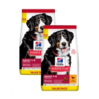 Pachet 2 x Hill's SP Canine Adult Large Breed Pui, Value Pack, 18 Kg