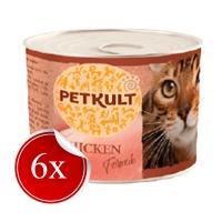 Hrana Umeda pentru Pisici Petkult Adult cu Pui, 185 g x 6