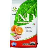 N&D Grain Free Cat, Peste si Portocale, 10 kg