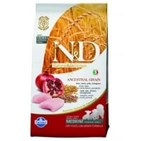 N&D Low Grain Puppy Medium, Pui si Rodie, 2.5 kg