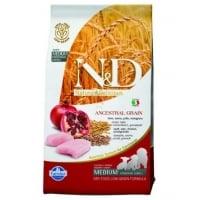 N&D Low Grain Puppy Medium, Pui si Rodie, 2.5 kg