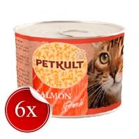 Hrana Umeda pentru Pisici Petkult Adult cu Somon, 185 g x 6
