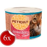 Hrana Umeda pentru Pisici Petkult Sterilised cu Ton, 185 g x 6