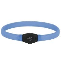 Zgarda pentru Caini cu Par Lung, Maxi Safe, 65 cm, Albastru