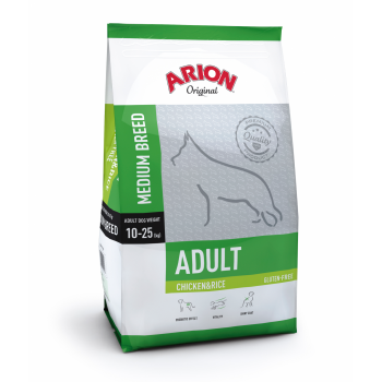 Arion Original Adult Medium cu Pui si Orez, 12 kg