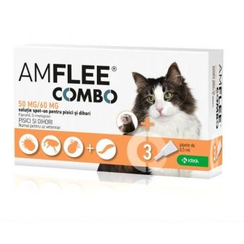 Pipete Antiparazitare Amflee Combo Pisica, 3 Bucati