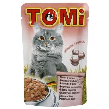 Plic Tomi Cat cu Vitel si Curcan, 100 g