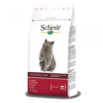 Schesir Cat pentru Pisici Sterilizate si Supraponderale 400 g