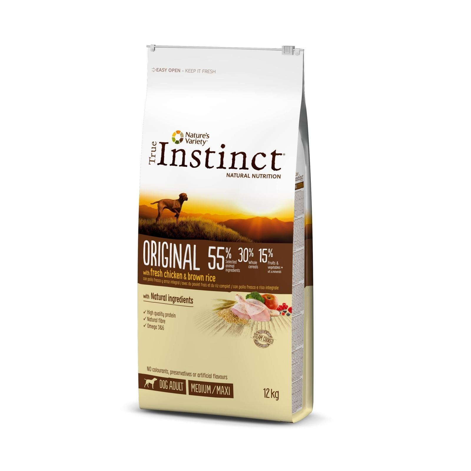 True Instinct Dog Original Med-Maxi Adult cu Pui, 12 kg