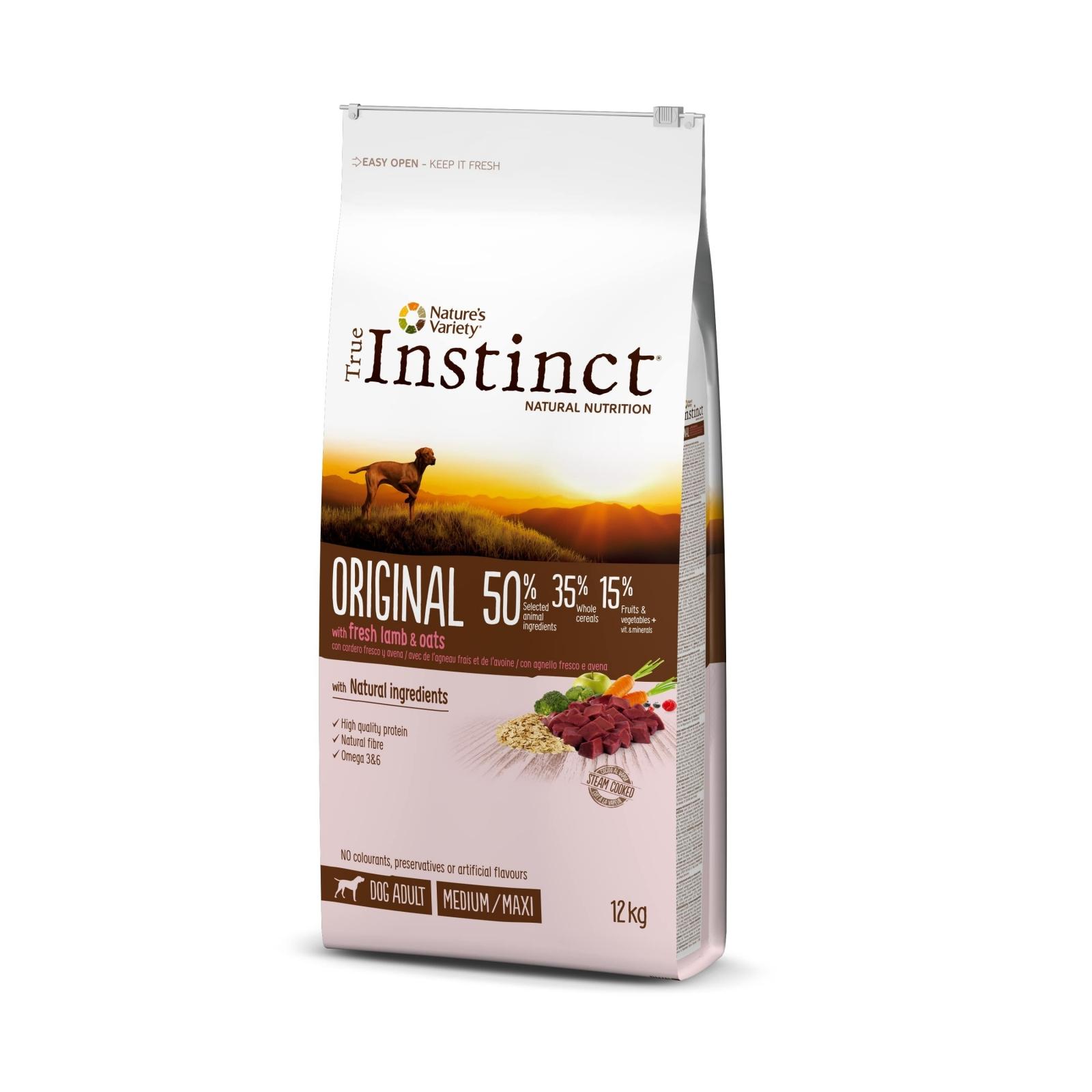 True Instinct Dog Original Med-Maxi Adult cu Miel, 12 kg