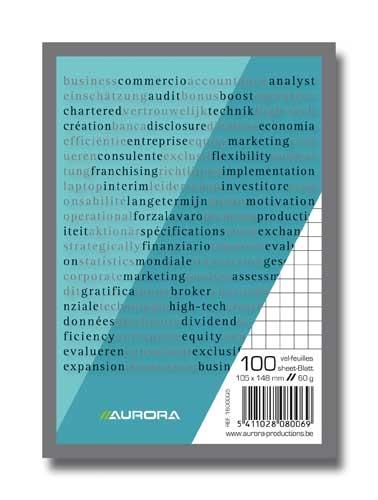 Blocnotes A6, 100 file, AURORA Bureau - matematica