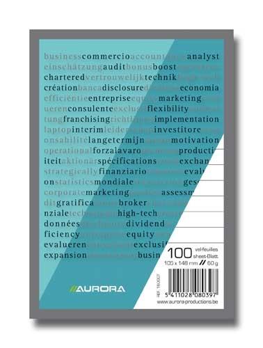 Blocnotes A6, 100 file, AURORA Bureau - dictando