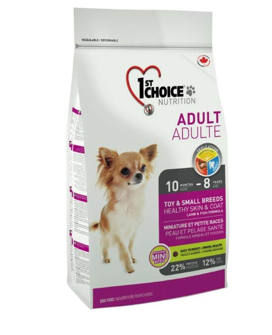1St Choice, Dog Adult, Toy and Small Breeds, Skin and Coat,  350 gr