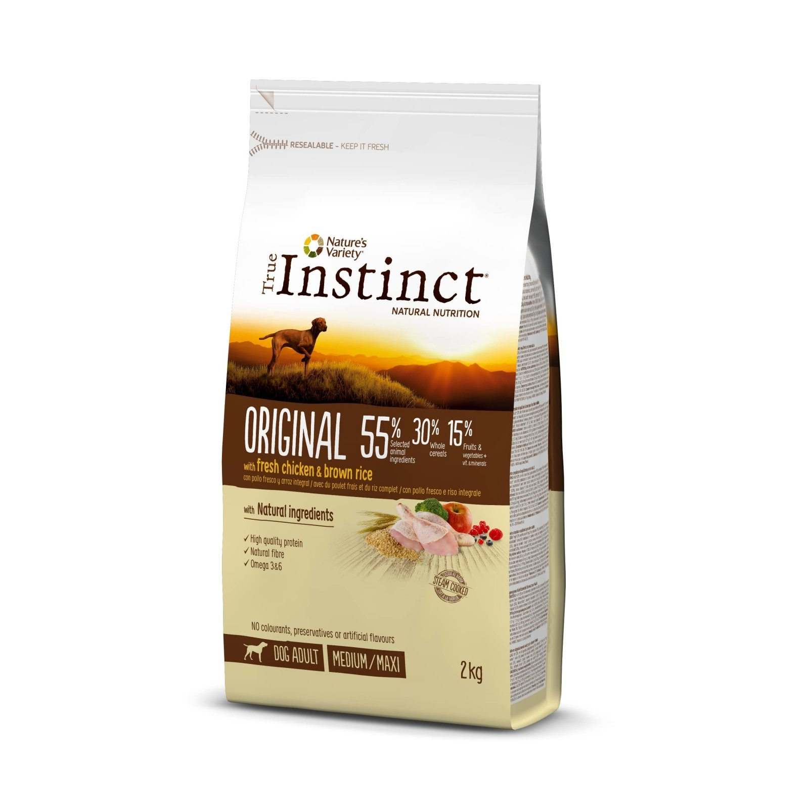 True Instinct Dog Original Med-Maxi Adult cu Pui, 2 kg