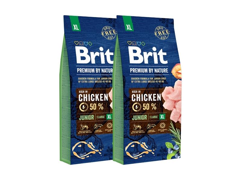 Pachet 2 x Brit Premium by Nature Junior XL, 15 kg