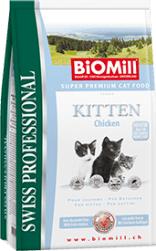 Biomill Swiss Professional Kitten cu Pui 10 kg