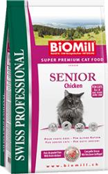 Biomill Swiss Professional Pisica Senior cu Pui 10 kg