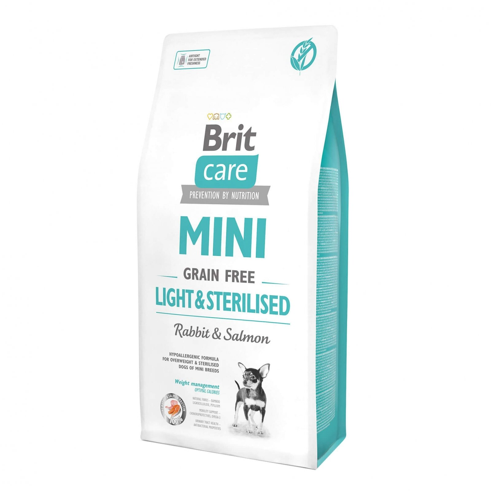 Brit Care Mini Grain Free Light & Sterilised, 7 Kg