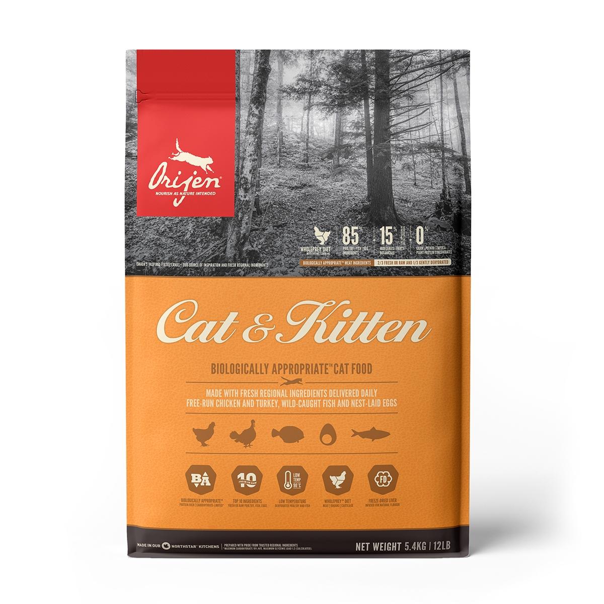 Orijen Cat&Kitten, 5.4 kg