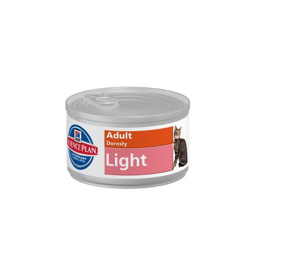 Pachet 5 Conserve Hill's SP Feline Adult Light 85 g