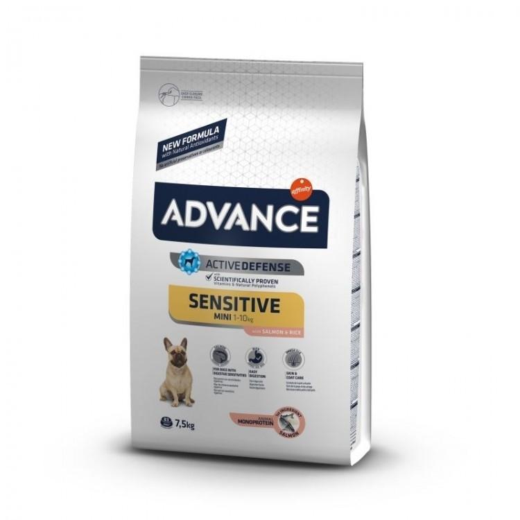 Advance Dog Mini Sensitive Somon si Orez, 7.5 kg