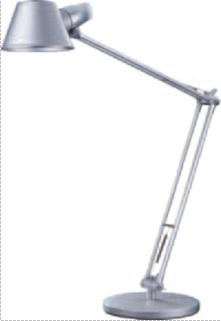 Lampa de birou cu brat articulat, 60W, ALCO - argintie
