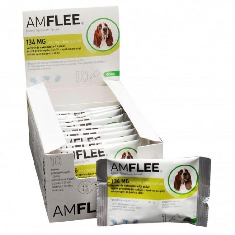 Pipeta Antiparazitara Amflee Spot-On Caini 10 - 20 kg
