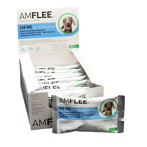 Pipeta Antiparazitara Amflee Spot-On Caini 20 - 40 kg