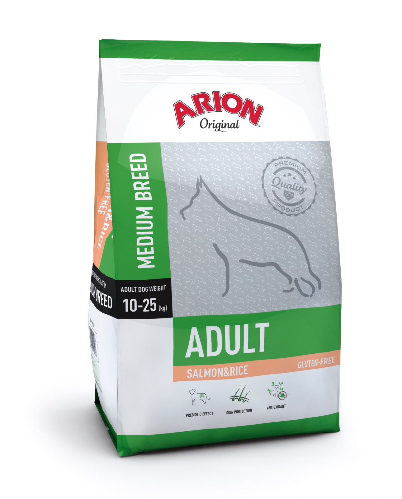 Arion Original Adult Medium cu Somon si Orez, 12 kg