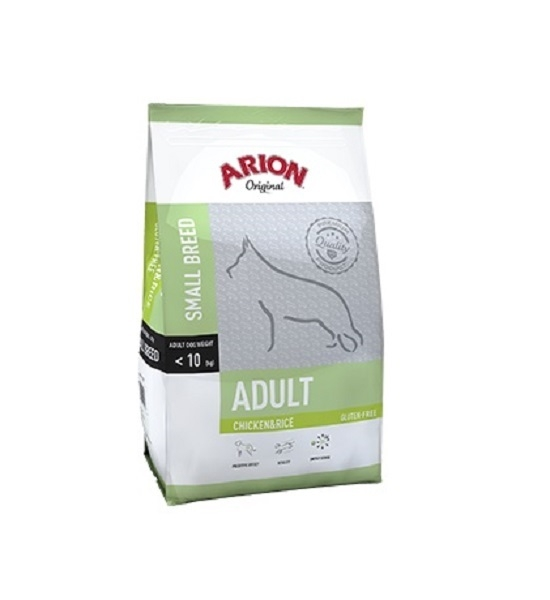 Hrana Uscata pentru Caini, Arion Original Adult Small Breed cu Pui si Orez, 7.5 kg