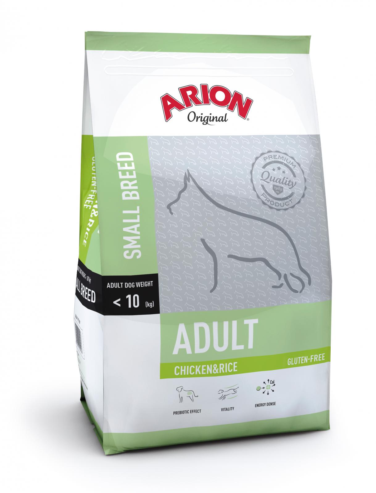 Arion Original Adult Small Breed cu Pui si Orez