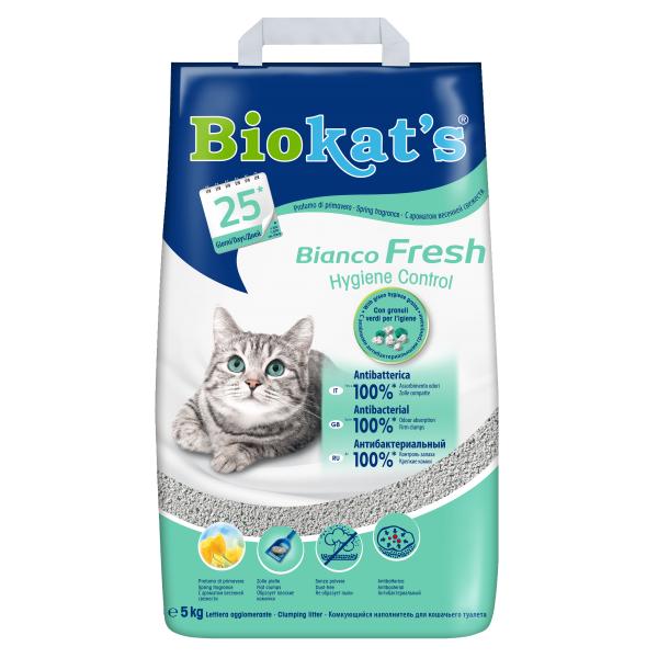 Asternut Igienic pentru Pisici, Biokat Fresh, 5 kg