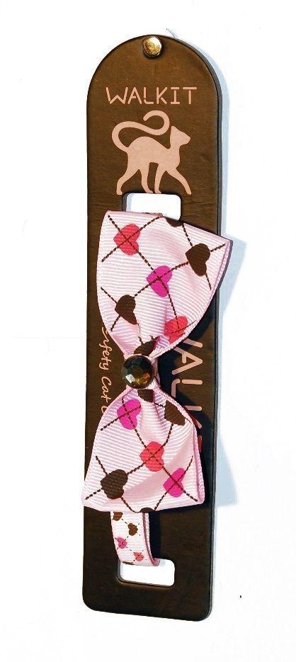 Zgarda Pisica Walkit Bow Tie, 1.0 x 32 cm, Roz