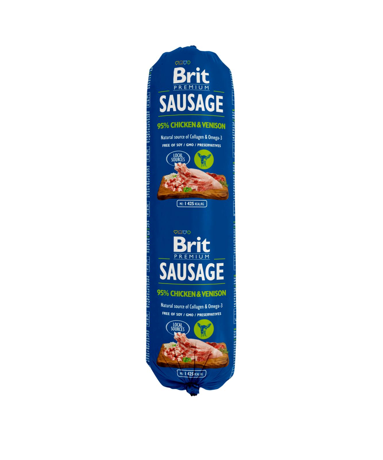 Brit Premium Salam cu Pui si Vanat, 800 g