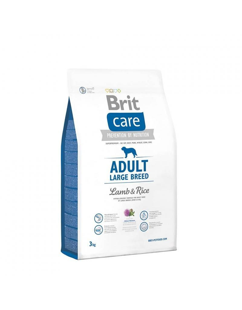 Brit Care Adult Large Breed Miel si Orez 3 kg