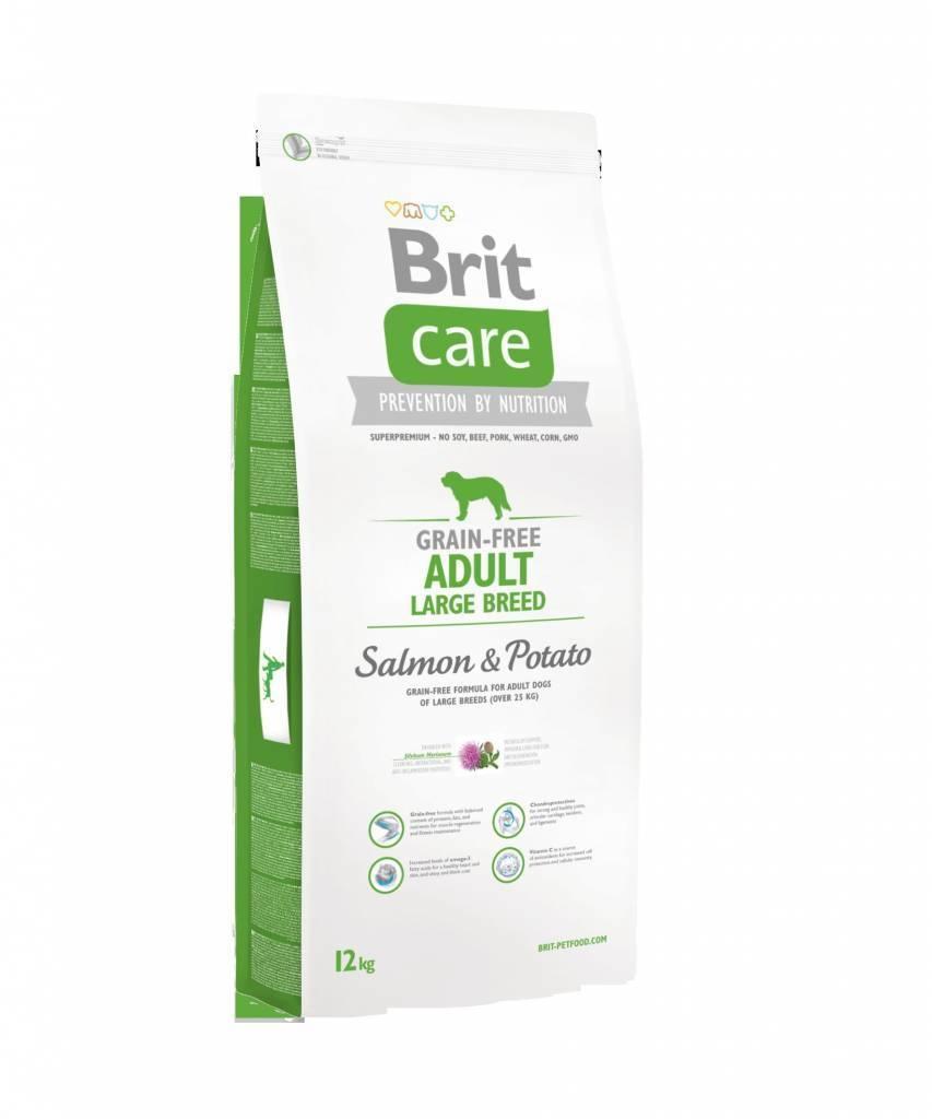 Brit Care Grain-Free Adult Large Breed Somon si Cartofi 12kg