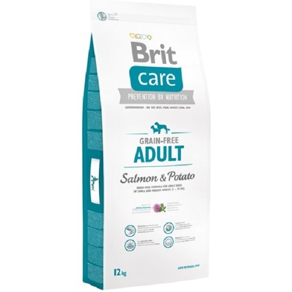 Brit Care Grain-Free Adult Somon si Cartofi, 12 kg