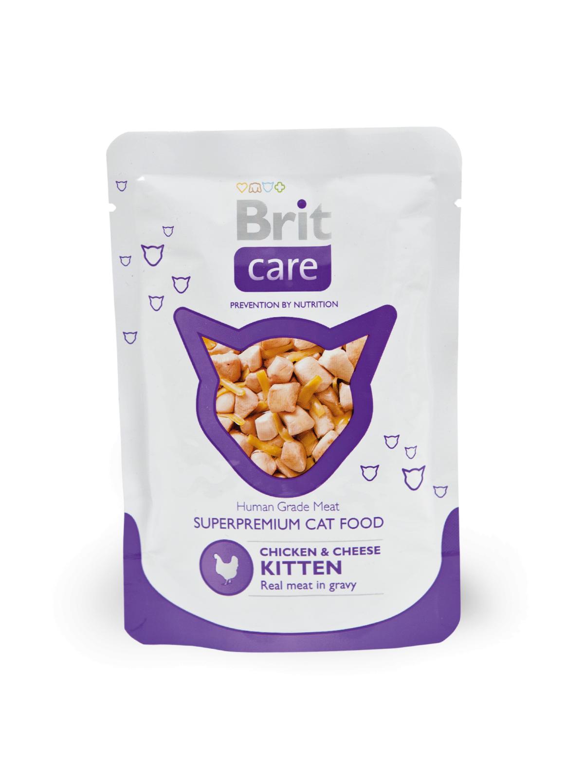 Brit Care Kitten cu Pui si Branza, 80 g